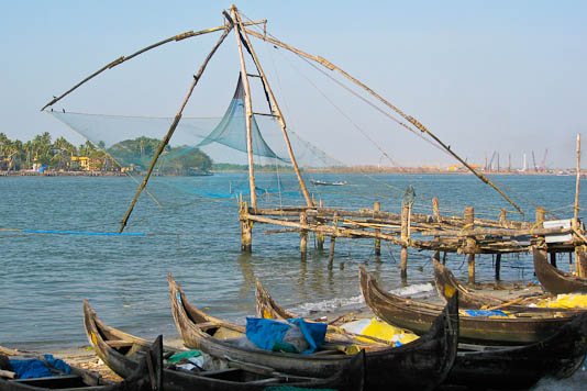 India, Kerala, Chinese, fishing nets