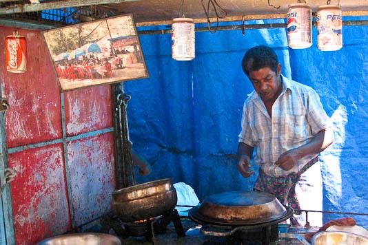 India, Kerala, fish, street food, food cart