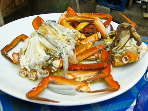 India, Kerala, fish, crab, street food, cart