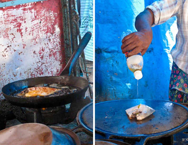 India, Kerala, fried fish, street food, cart