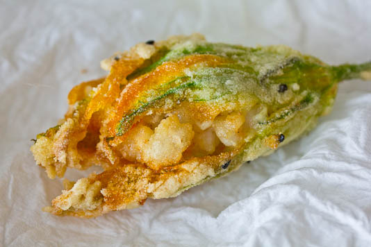 Shrimp-Stuffed Squash Blossom
