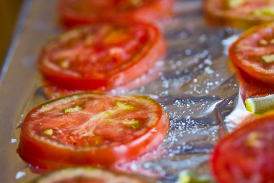 Sliced Tomatoes With Salt & Olive Oil