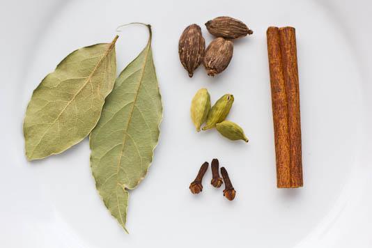 Bay Leaves, Cardamom, Clove, Cinnamon