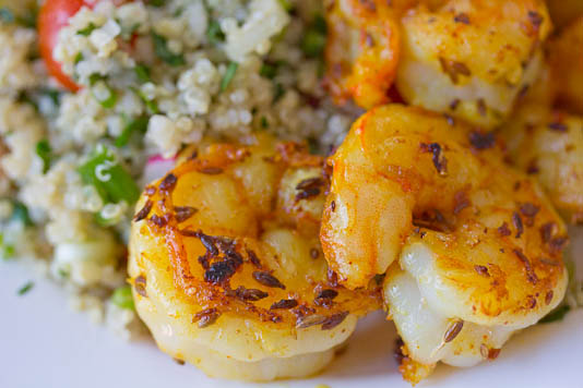Shrimp With Quinoa