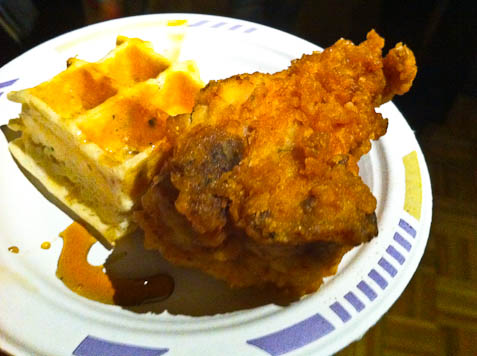 Table Fifty-Two: buttermilk fried chicken & pecorino waffle