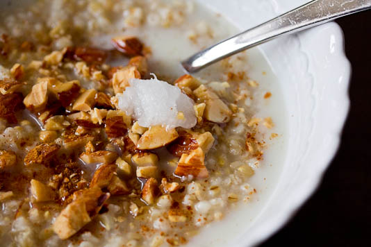 Oatmeal with Coconut Oil