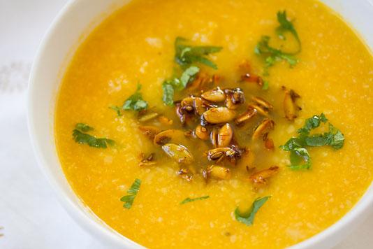 Cauliflower Soup with Pumpkin Seeds