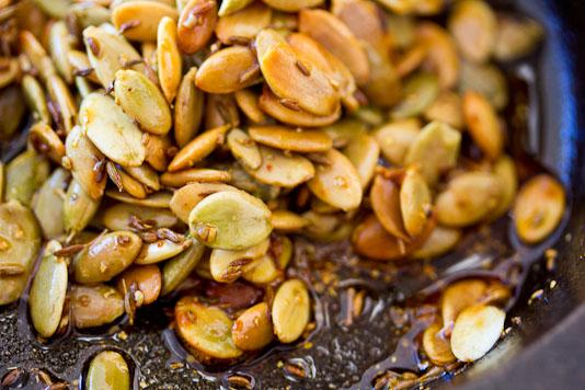 Sauteing Pumpkin Seeds