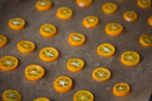 Syrup Covered Kumquat Slices