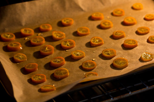Baked Kumquat Slices