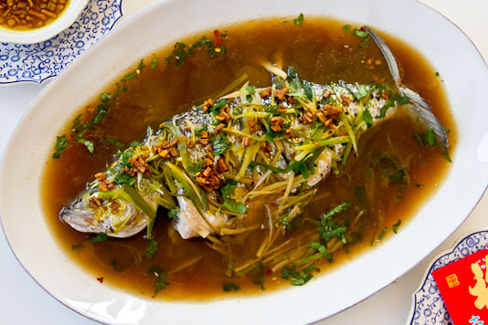 Steamed Whole Fish with Ginger and Scallions | Perfect Morsel