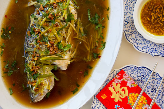 Steamed Whole Fish For Chinese New Year
