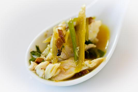 Perfect Morsel: Fish, Ginger, Scallions, Garlic, Broth