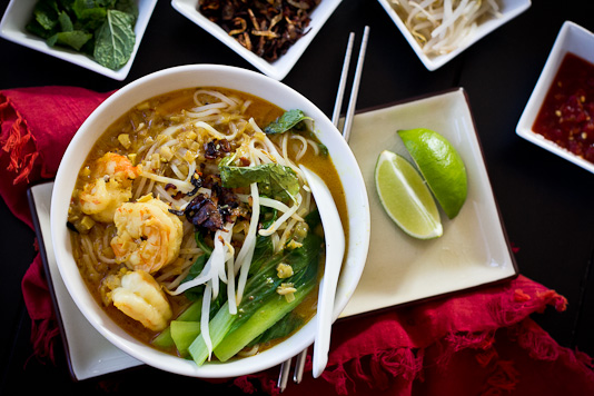 Curry Laksa With Shrimp
