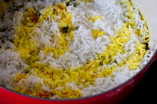 Sabzi Polo: Saffron Rice