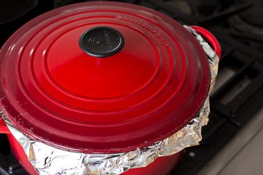 Sabzi Polo: Steaming Rice