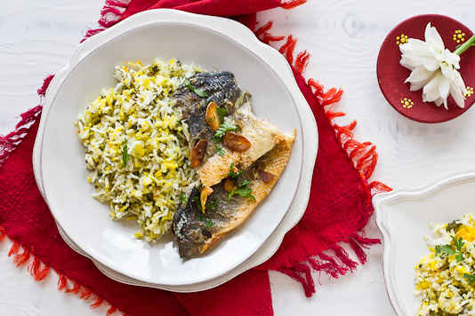 Sabzi Polo va Mahi: Persian Herbed Rice and Fish