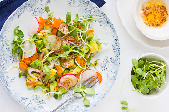 Seduced By Sunflower Sprouts in a Spring Salad
