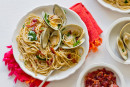 "Spaghettini with Clams, Bacon & Ramps: For My ""Italian"" Father"