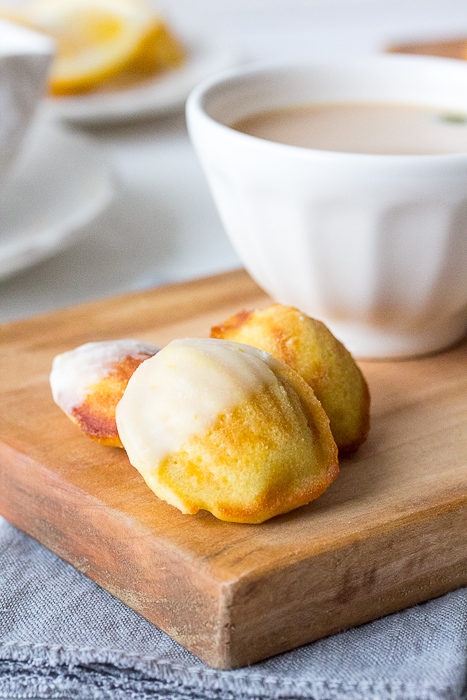 Meyer Lemon-Iced Brown Butter Madeleines